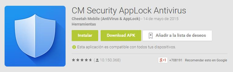 cm security apk gratis