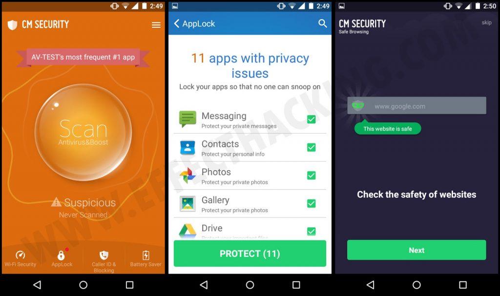 Aplicaciones seguras con CM Security